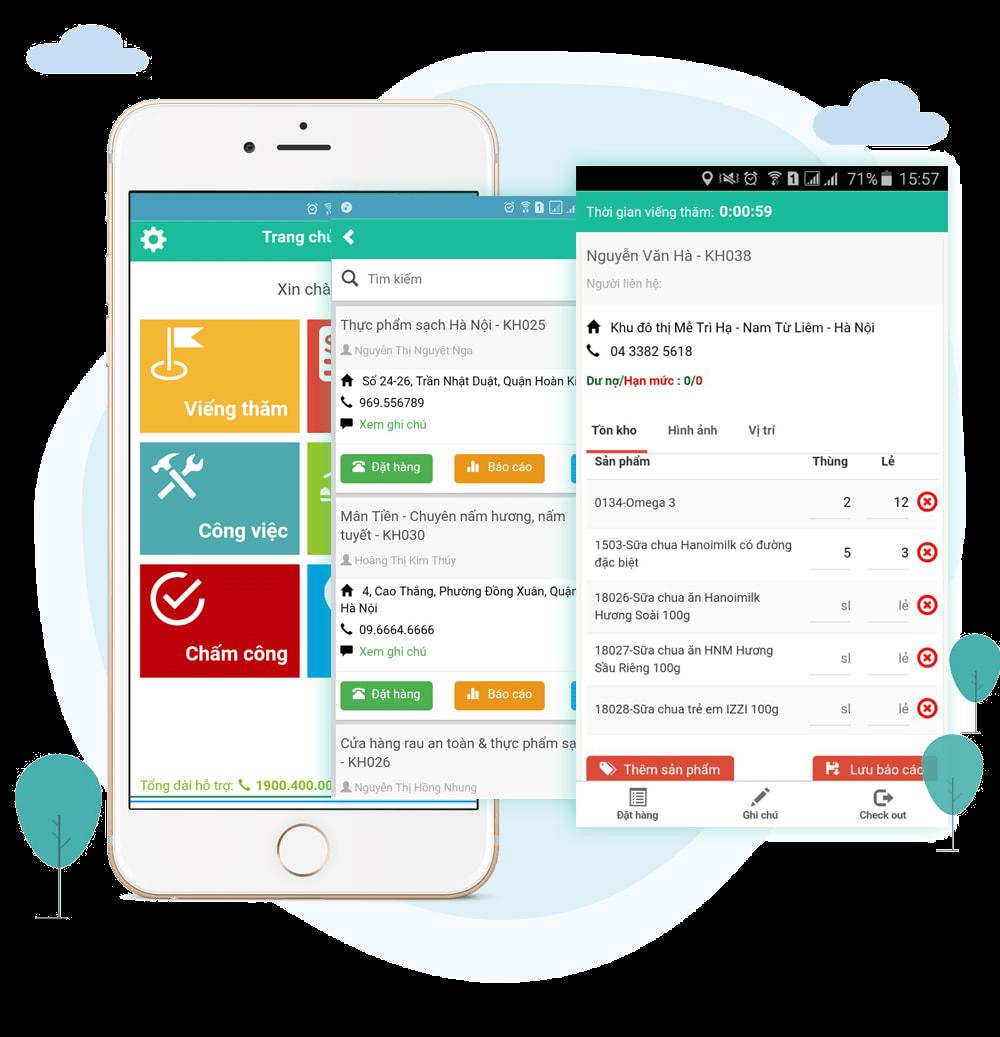 Tính năng Giám sát nhân viên bán hàng ngoài thị trường trên phần mềm MobiWork DMS